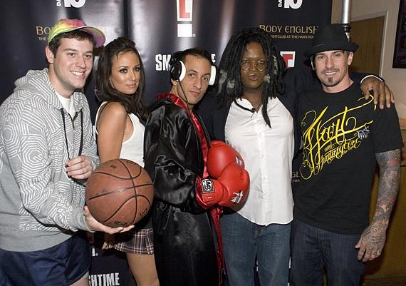 Carey Hart (on right) with friends at Body English (Photo credit: Hard Rock Hotel)