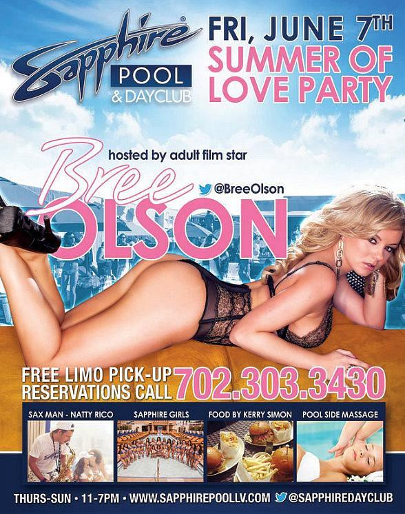 Bree Olson hosts Summer of Love Party at Sapphire Pool and Dayclub Friday, June 7