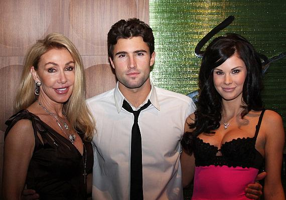 Brody Jenner with girlfriend 2008 Playmate of the Year Jayde Nicole and his mother Linda (Photo credit: Sarah Feldberg)