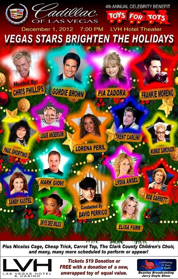 4th Annual Celebrity Benefit for Toys for Tots on Dec. 1