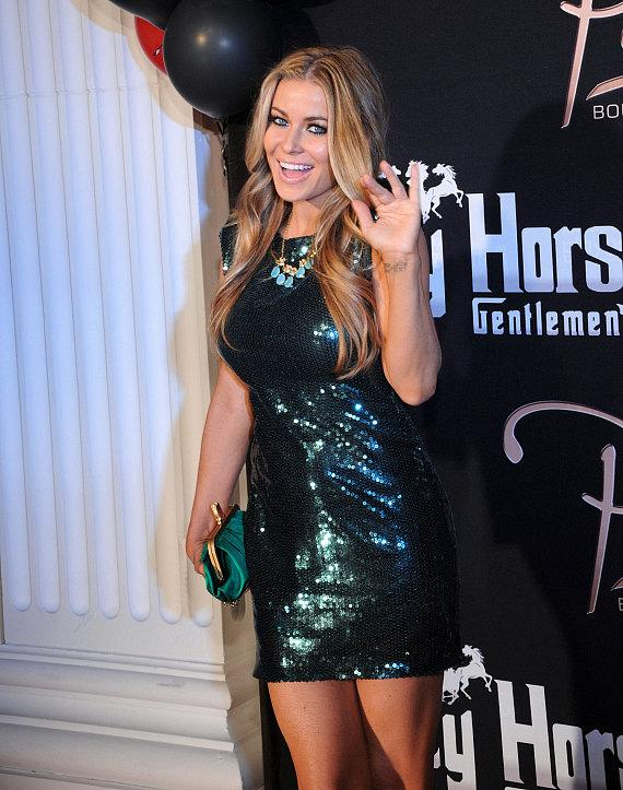 Carmen Electra on red carpet at Crazy Horse III and Posh Boutique Nightclub