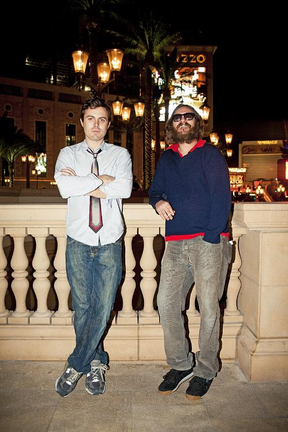 Casey Affleck and Joaquin Phoenix at LAVO at The Palazzo (Photo credit: Michael Muller)