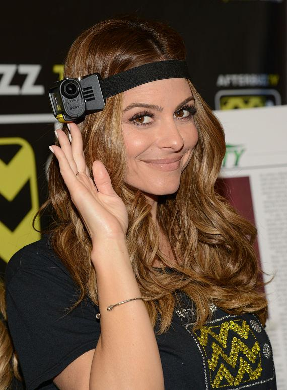 Maria Menounos appears in Afterbuzz TV Booth at 2014 Int'l CES in Las Vegas