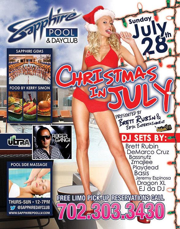 "Brett Rubin to Host ""Christmas in July"" at Sapphire Pool & Dayclub July 28"