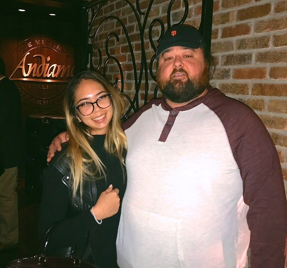 "Chumlee of ""Pawn Stars"" Dines with Girlfriend and Family at Andiamo"
