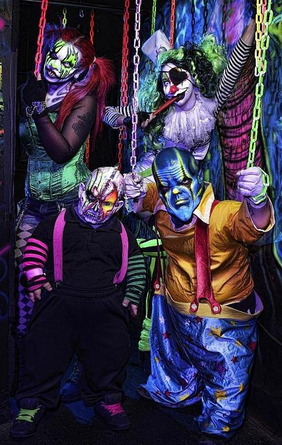 Clown residents of the Fright Dome