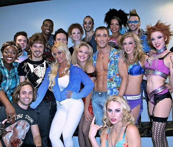 PEEPSHOW Star Coco Austin Attends Rock of Ages at The Venetian