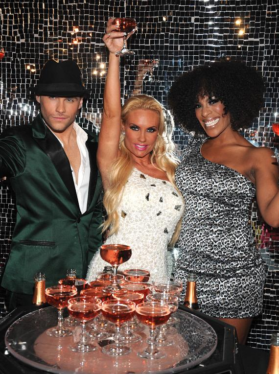 Josh Strickland, Coco Austin and Cheaza of Peepshow
