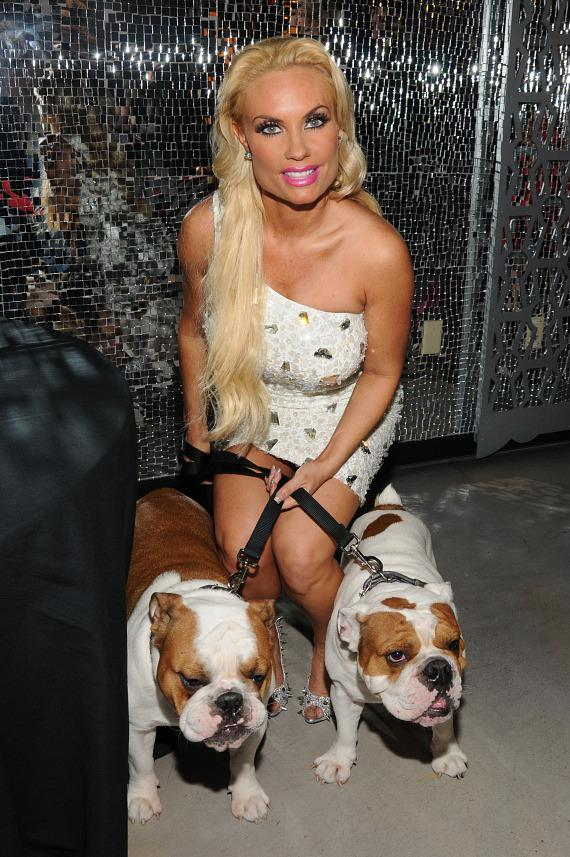 Coco Austin with pets