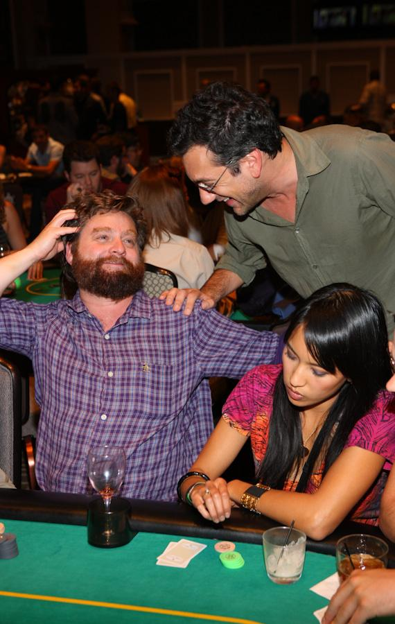 Zach Galifianakis and Todd Phillips at 'The Hangover' Poker Tournament at Caesars Palace