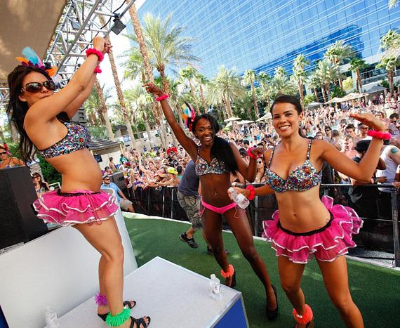 Dancers at Paradise Beach at Hard Rock Hotel & Casino