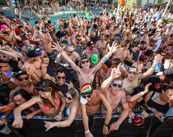 BASSRush Pool Party at Paradise Beach at Hard Rock Hotel & Casino