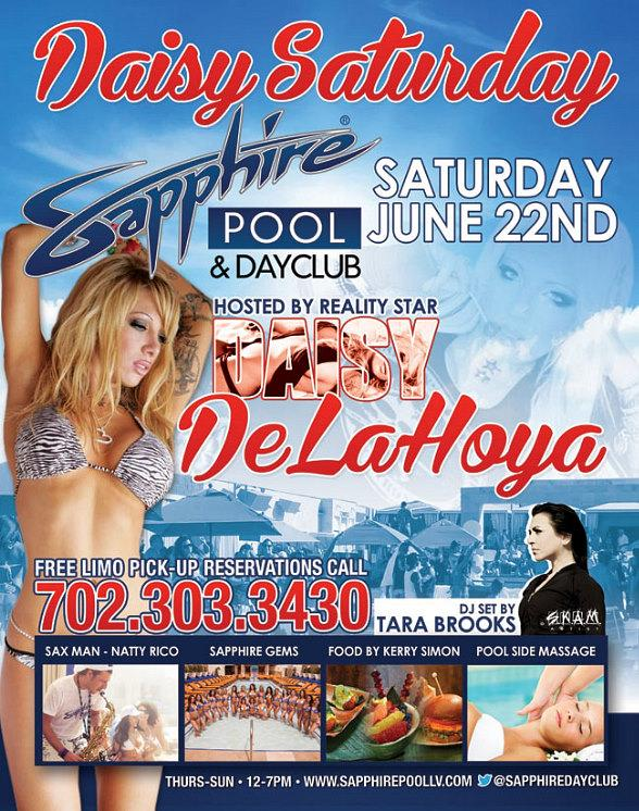It's Daisy Saturday with Daisy De La Hoya and SKAM Artist Tara Brooks at Sapphire Pool & Dayclub