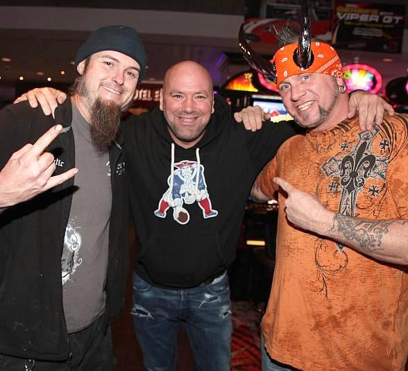 Counting Cars Cast, Horny Mike and Ryan Evans, run into UFC's Dana White at the D Casino Hotel in Las Vegas