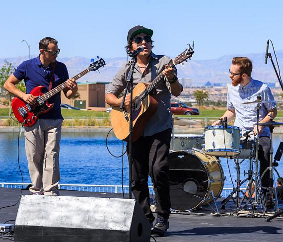 Band playing at DeCadence Food Festival in Henderson
