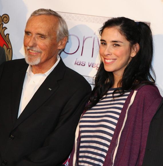 Dennis Hopper and Sarah Silverman