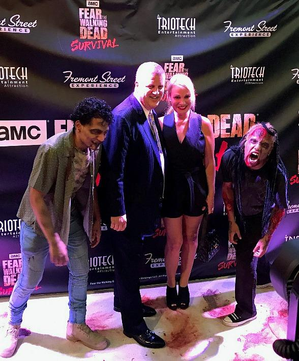 "Stars Grace Fremont Street Experience During ""Fear the Walking Dead: Survival"" Grand Opening"