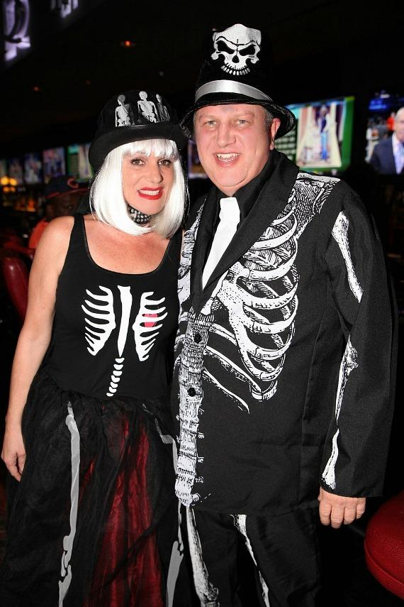 Derek Stevens and his wife Nicole Parthum at the D Casino on Halloween 2016 in Las Vegas