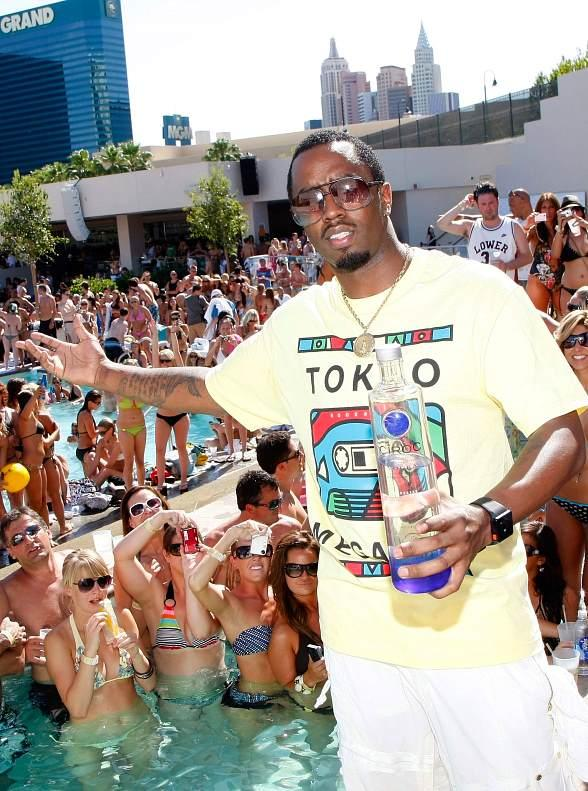 "Sean ""Diddy"" Combs at WET REPUBLIC"