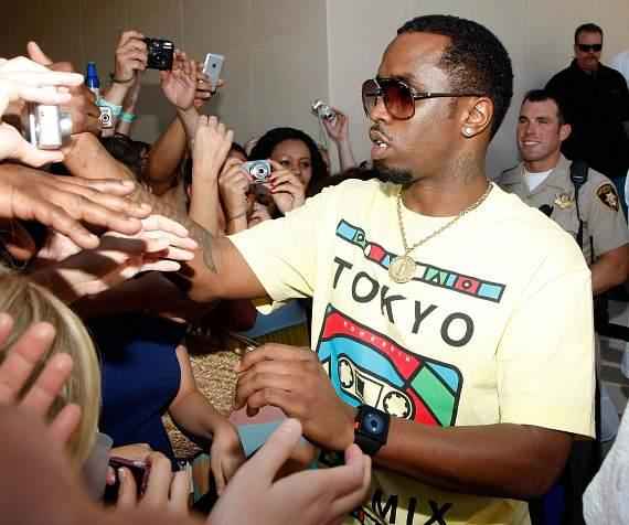 "Sean ""Diddy"" Combs greets the crowd at WET REPUBLIC"