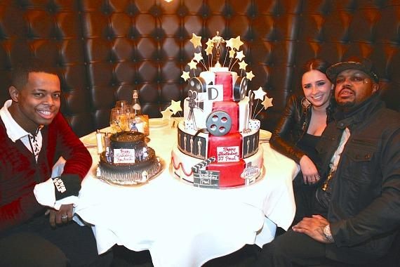 DJ Paul and his wife with son Nautica at Andiamo Italian Steakhouse-inside the D Casino Las Vegas