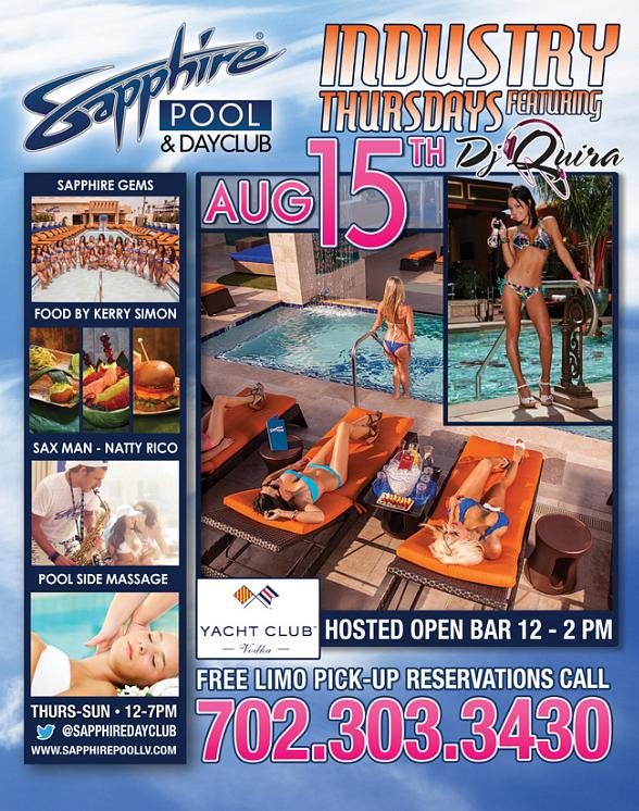 Resident DJ Truelove and DJ Casanova Spin at Sapphire Pool & Dayclub Thursday, August 15