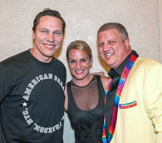 DJ Tiesto with the D Owner Derek Stevens and wife Nicole Parthum