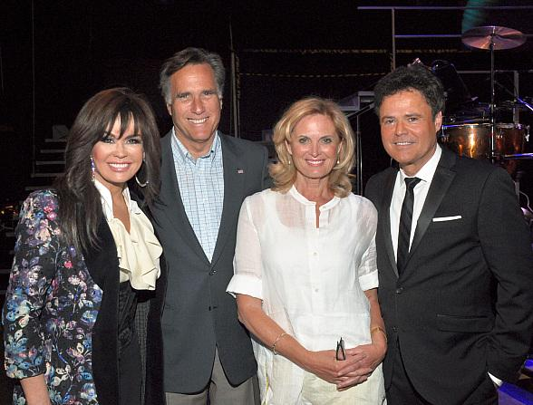 Mitt and Ann Romney at Donny & Marie at Flamingo Las Vegas and Mesa Grill at Caesars Palace