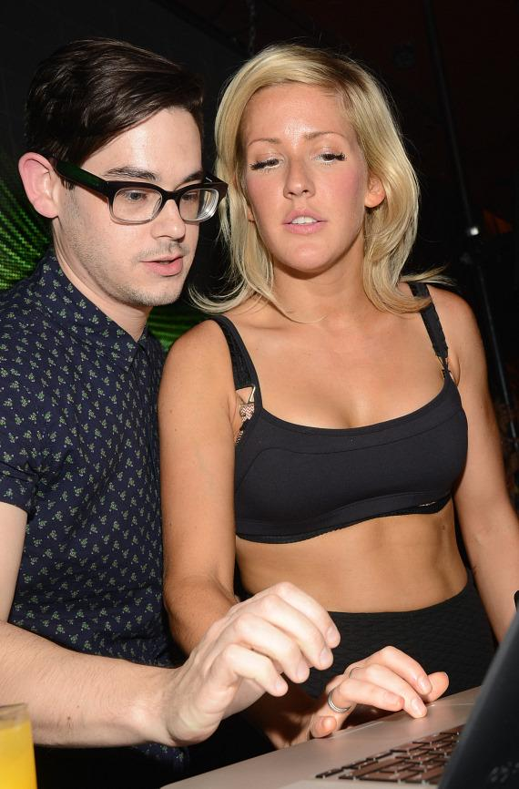 Joe Clegg with Ellie Goulding at Surrender Nightclub