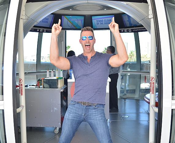 """Eric Martsolf, Guest Host of """"Legends in Concert"""" at Flamingo Las Vegas and Star of """"Days of Our Lives,"""" Rides High Roller Observation Wheel"""