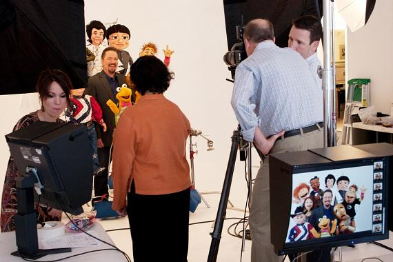 Terry Fator behind the scenes photo shoot with John E. Barrett