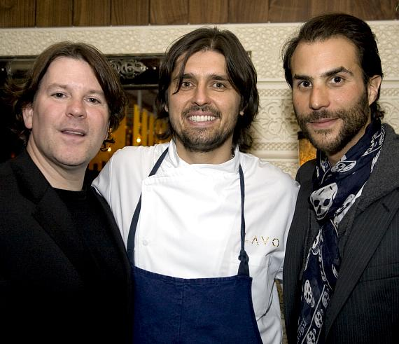 John Ferriter, Chef Ludo, Ben Silverman at LAVO