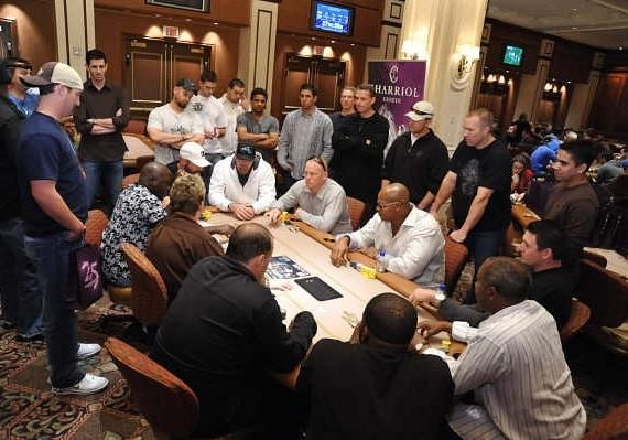 Final Table at the Eddie Guardado Poker Tournament at the The Palazzo