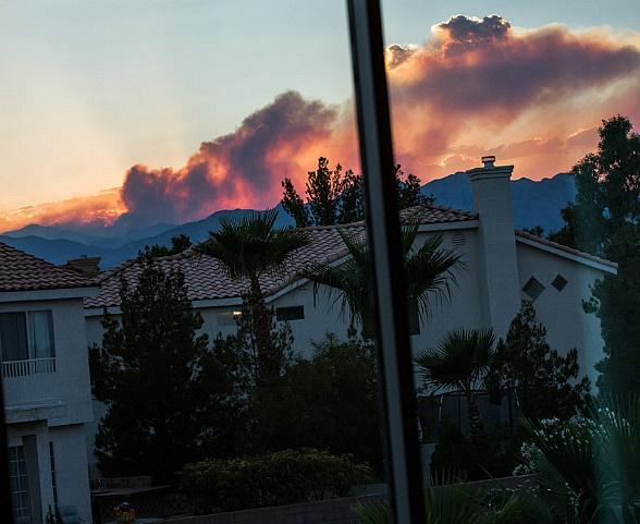 Mandatory Evacuation for Mt. Charleston Fire; Firemen Making Headway
