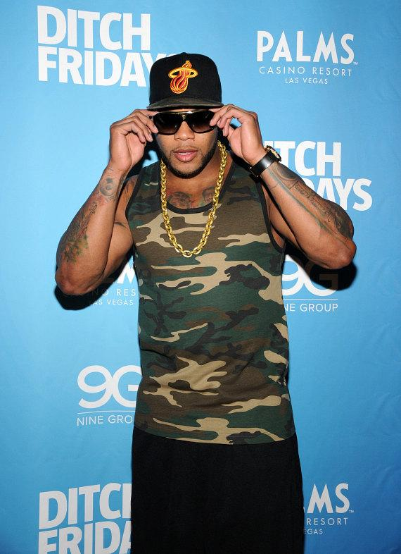 Flo Rida arrives for Ditch Fridays at Palms Pool & Bungalows
