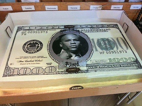 Floyd Mayweather's Birthday Cake