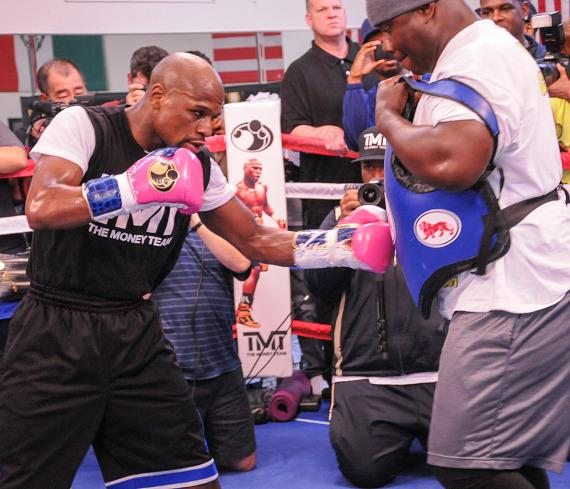 "Floyd ""Money"" Mayweather at Las Vegas Media Workout"