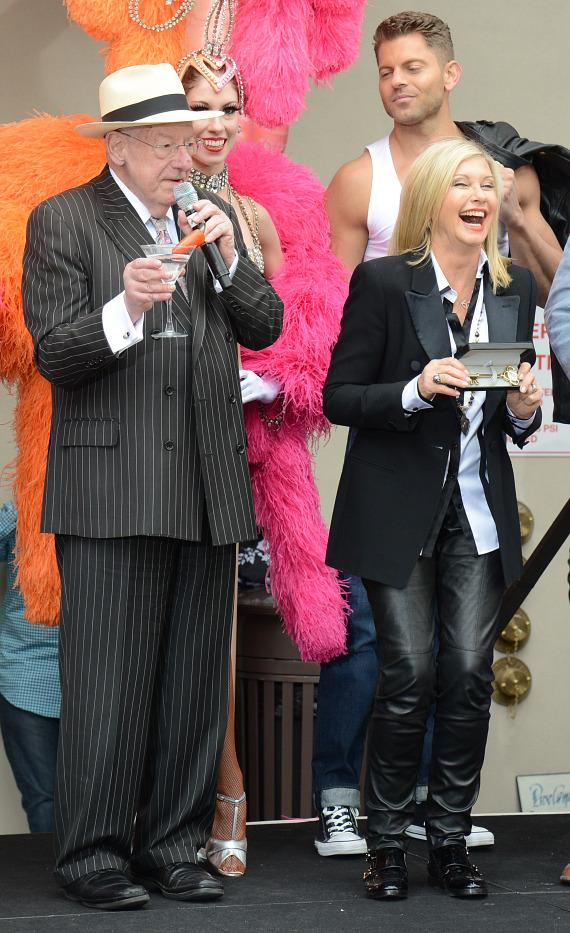 Former Mayor Oscar Goodman with Olivia Newton-John at The Flamingo Las Vegas