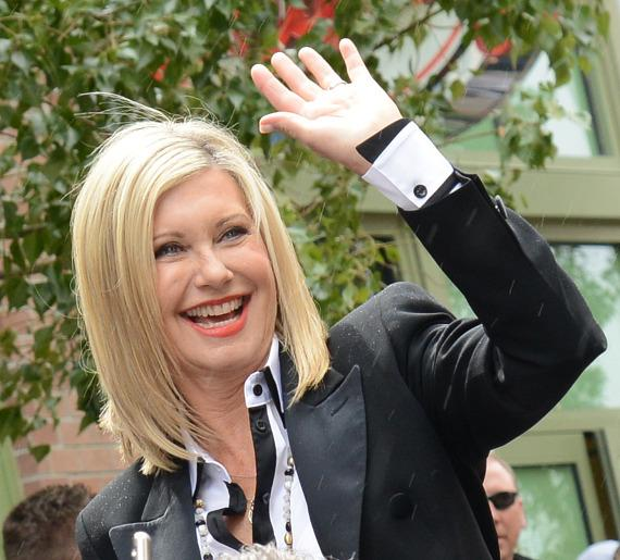 Olivia Newton-John arrives at The Flamingo Las Vegas