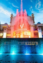 Miracle Mile Shops' Fountain Glows Teal for Alzheimer's Foundation of America Nov. 1-30