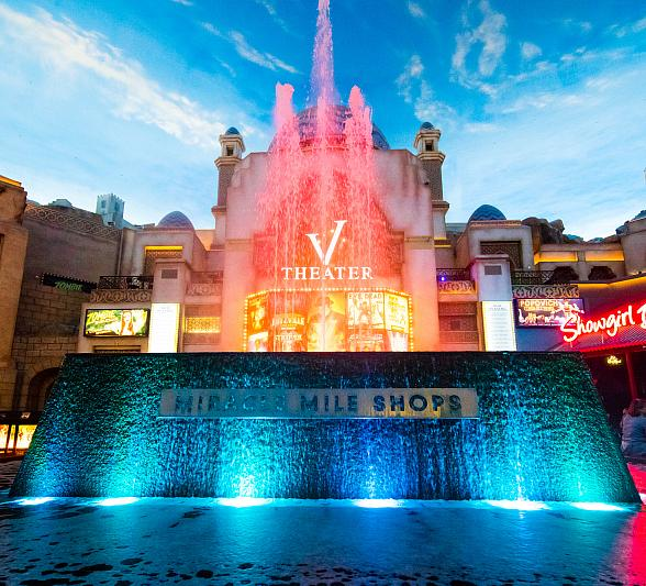Miracle Mile Shops' Fountain Glows Teal for Alzheimer's Foundation of American Nov. 1-30