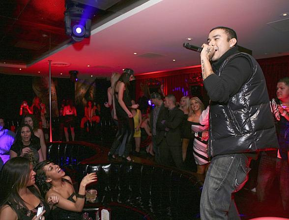 Frankie J at Christian Audigier The Nightclub (Photo couresty of Christian Audigier)