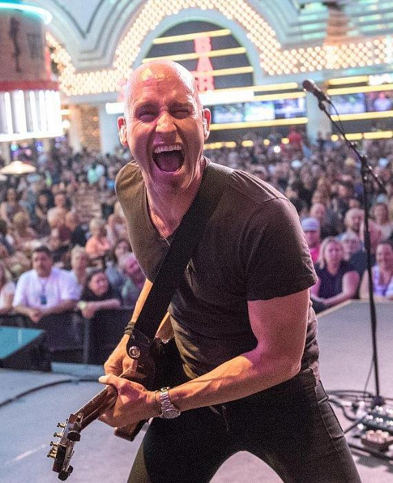 Vertical Horizon perform on Fremont Street's First Street Stage in Downtown Las Vegas