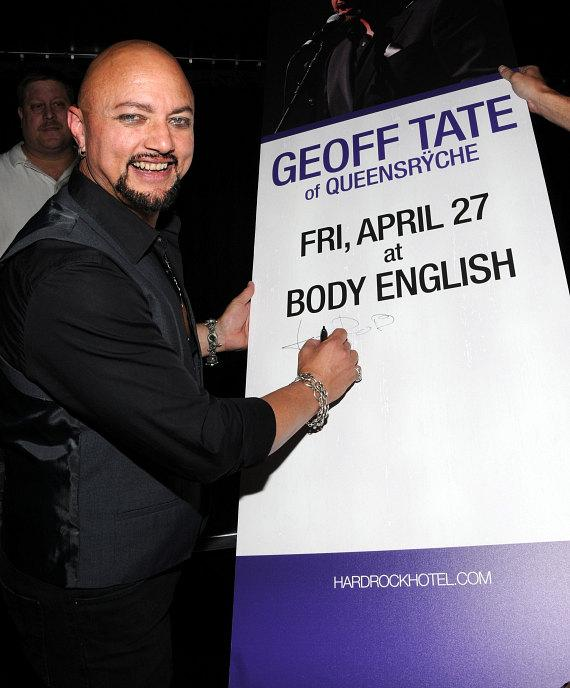 Geoff Tate at Body English at Hard Rock Hotel & Casino