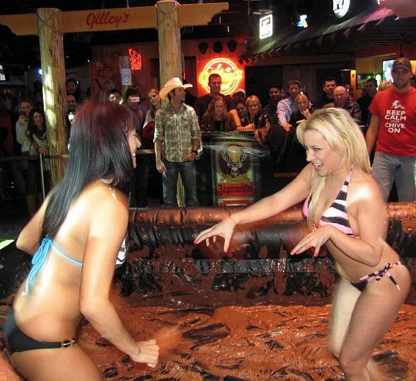 Sit Ringside as Bikini Mud Wrestling Returns to Gilley's Saloon, Dance Hall & Bar-B-Que