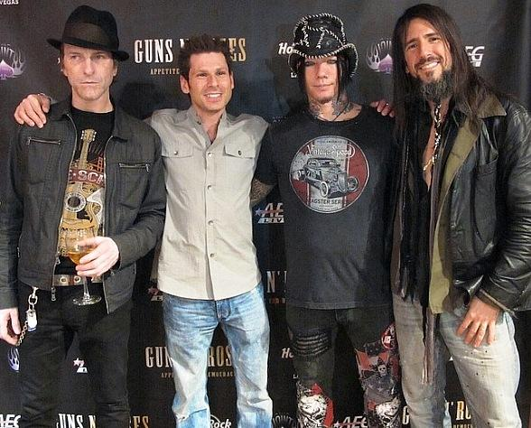 Magician Mike Hammer with Guns N' Roses at Hard Rock Hotel & Casino