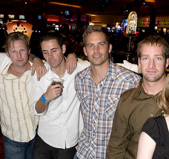 Paul Walker with friends at Wasted Space