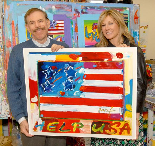 HELP USA chairperson, Maria Cuomo Cole and artist Peter Max