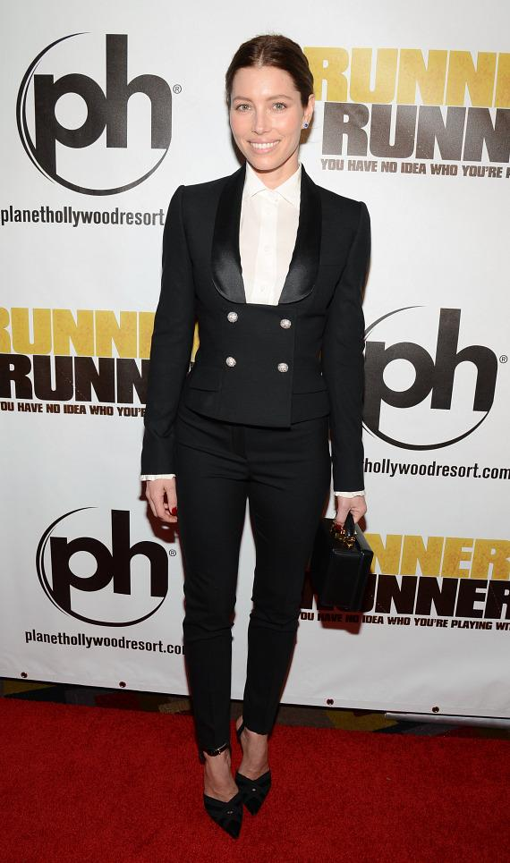 Jessica Biel at Runner Runner premiere at Planet Hollywood in Las Vegas