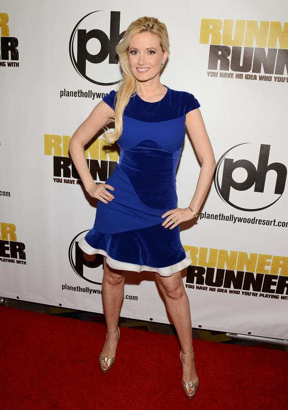 Holly Madison at Runner Runner premiere at Planet Hollywood in Las Vegas